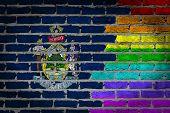 Dark Brick Wall - Lgbt Rights - Maine