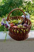 Fruit Basket On The Balcony