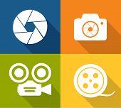 Camera and shutter icons