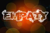 stock photo of empathy  - Empathy Concept text on background humanism idea - JPG