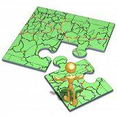 Road Map Concept Puzzle