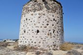 Old Greek Windmill On Kos Island