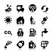 Flat Icons Ecology Set With Reflex