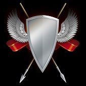 Shield With Wings And Spears.