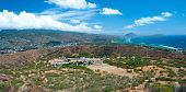 Diamond Head State Monument Park Trail close Honolulu on Oahu Hawaii panorama