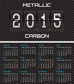 Bilateral Business Card With Calendar And Carbon Background