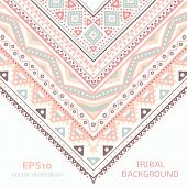 Tribal ethnic corner pattern. Vector illustration for your cute