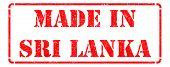 Made in Sri Lanka on Red Stamp.