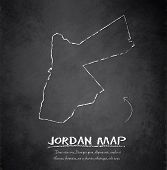 Jordan map blackboard chalkboard vector