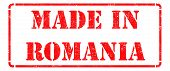 Made in Romania on Red Stamp.