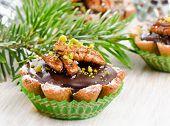 Cupcake With Christmas Decoracions