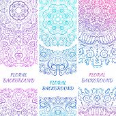 Tribal ethnic vintage banners. Illustration for your cute