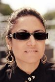 Brunette Woman With Sunglasses