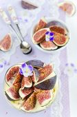 Gourmet tirmaisu with fresh figs