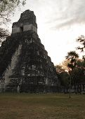 Mayan temple ruins at dawn, Tikal National Park, Guatemala
