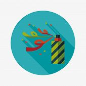 Confetti Flat Icon With Long Shadow,eps10