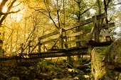 Wood Bridge In Geres