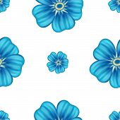 Vector set of seamless floral wallpaper