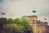 Retro Look Reichstag Berlin