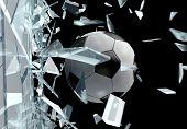 Broken Glass 3D Soccer Ball 2