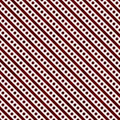 Red And White Small Polka Dots And Stripes Pattern Repeat Background