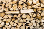 Lot Of Birch Firewood