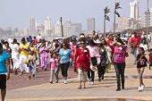 Walking Participants Celebrating Heritage Day In Durban South Africa
