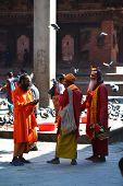 Holy Sadhu Men In Kathmandu, Nepal