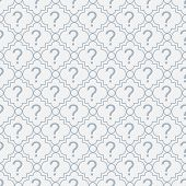 Blue And White Question Mark Symbol Pattern Repeat Background