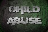 stock photo of pedophilia  - Child Abuse Concept text on background idea - JPG