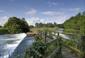 Weir over the River Avon, Hampshire