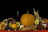 pic of cornucopia  - autumn cornucopia of fruits - JPG