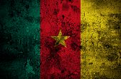 Grunge Flag Of Cameroon With Capital In Yaounde