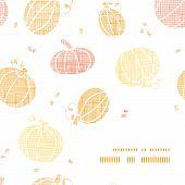 Vector thanksgiving pumpkins textile frame corner pattern background