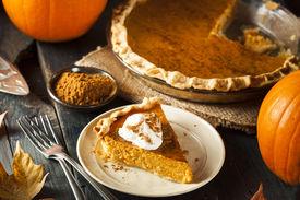 image of pumpkin pie  - Homemade Pumpkin Pie for Thanksigiving Ready to Eat - JPG