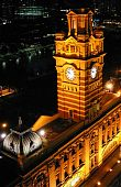 Flinders Street Railway Station Clock Tower At 11Pm