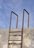 Rusty Old Metal Ladder