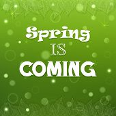 Typographical Spring Background Vector