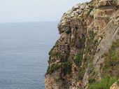 Limestone cliffs at Ghar hasan, Malta