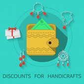 Flat design vector illustration of handicraft