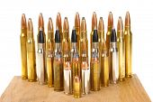 image of ammo  - Ammunition of various types and sizes from 320 Auto to 300 Win Mag - JPG