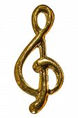 Treble Clef, Decorative Element, Isolated On White Background