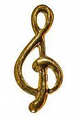foto of treble clef  - Treble clef decorative element isolated on white background - JPG