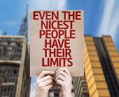 Even The Nicest People Have Their Limits card with urban background