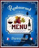 French menu restaurant
