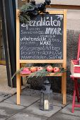 GRAZ, AUSTRIA - JANUARY 10, 2015: Specialties from the island of Hvar in Croatia exposed in front of the store in Graz, Styria, Austria on January 10, 2015.