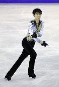 BARCELONA - DEC, 13: Yuzuru Hanyu of Japan during Men Free Skating event of ISU Grand Prix of Figure Skating Final 2014 at CCIB on December 13, 2014 in Barcelona, Spain