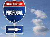 Proposal road sign