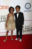 LOS ANGELES - FEB 6:  Marsai Martin, Miles Brown at the 46th NAACP Image Awards Arrivals at a Pasadena Convention Center on February 6, 2015 in Pasadena, CA