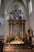 GRAZ, AUSTRIA - JANUARY 10, 2015: Altar in Graz Cathedral dedicated to Saint Giles in Graz, Styria, Austria on January 10, 2015.